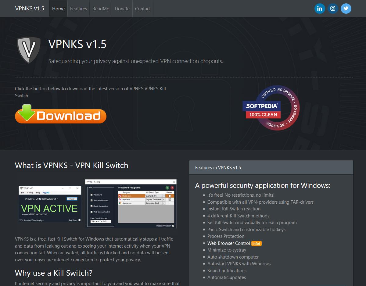VPNKS VPN Killswitch - ReadMe